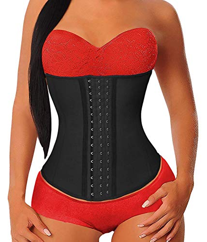 YIANNA Women's Underbust Latex- Sports Girdle, Waist Trainer, Corset