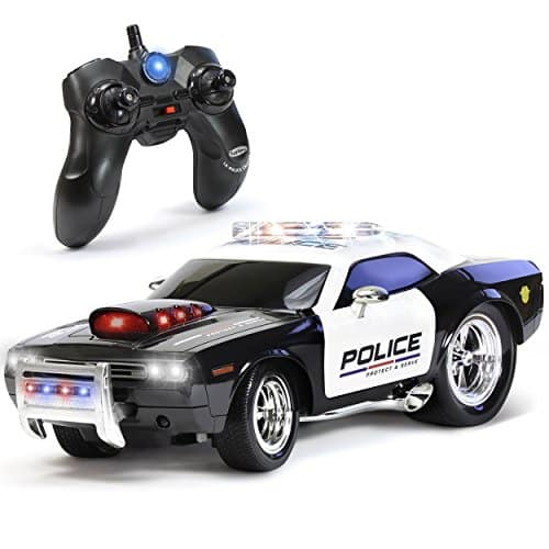 KidiRace Remote Control Police Car