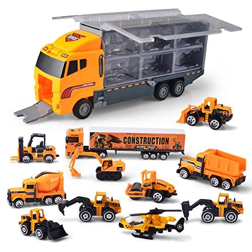 JOYIN 11 in 1 Die-Cast Construction Truck