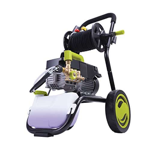 Sun Joe SPX9009-PRO 2.41 HP 1800 PSI 1.6 GPM Commercial Pressure Washer with Roll Cage and Hose Reel.