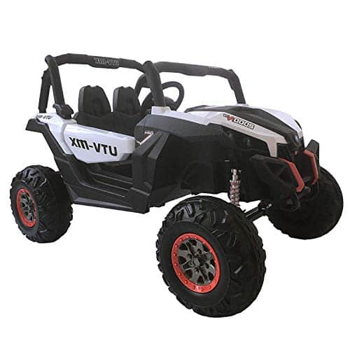 12V Cool Kids Electric Off-Road Vehicle Ride-On Driving Toy Car with Two Seater Remote Control