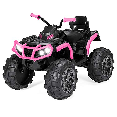 Best Choice Products 12V Kids Battery Powered Electric Rugged 4-Wheeler ATV Quad Ride-On Car Vehicle Toy w/ 3.7mph Max Speed, Reverse Function, Treaded Tires, LED Headlights, AUX Jack, Radio