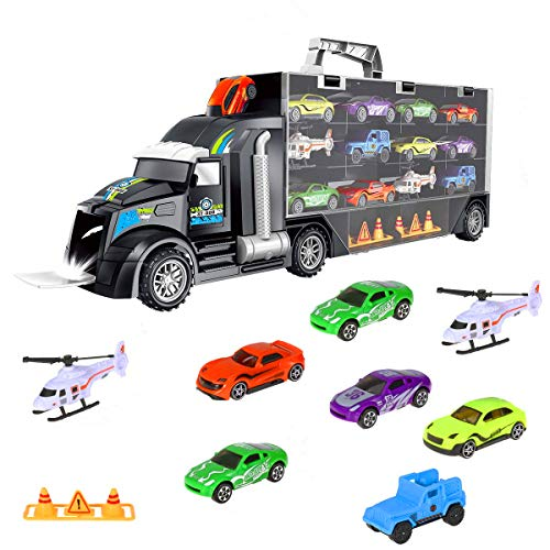 iBaseToy Trucks Transport Car Carrier