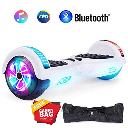 Jolege Self Balancing Hoverboard with Built-in Bluetooth Speaker LED