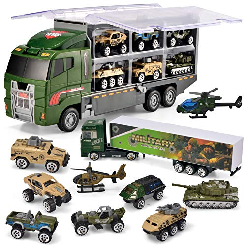 JOYIN 10 in 1-Die-Cast Military Truck
