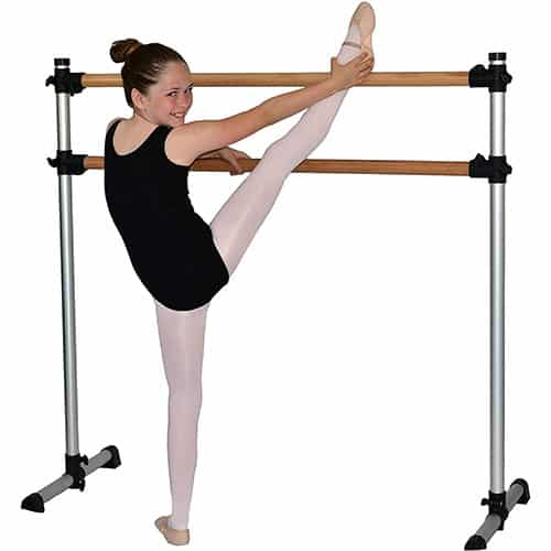 Traditional- Real Wood Portable Double Freestanding 4 Foot Ballet Barre