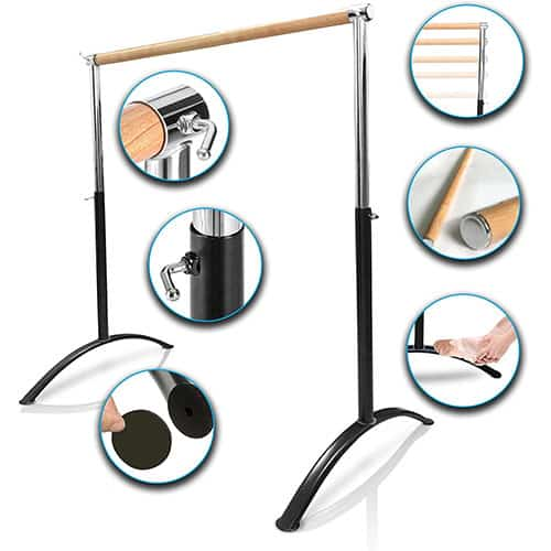 Ballet Barre-Portable for Home or Studio, Freestanding Adjustable Bar for Stretch