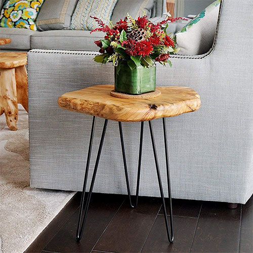 NB WOOD Natural Edge Side Table