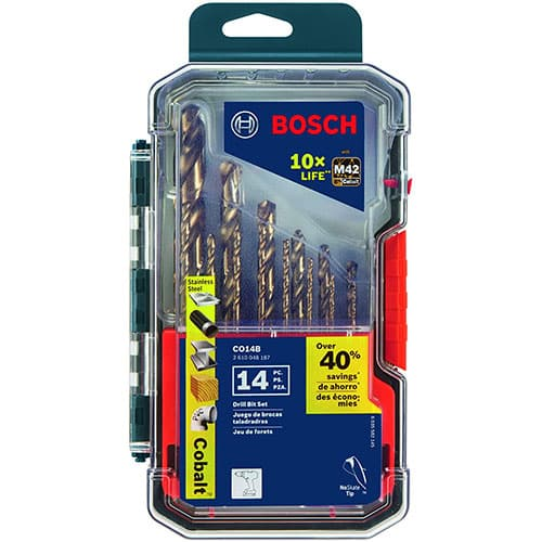 Bosch CO14B 14 Pc. Cobalt M42 Drill Bit Set