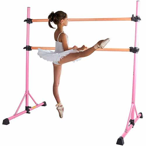 Z ZELUS Ballet Barre Portable for Home- Pink