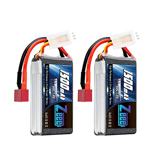 Zeee 7.4V 60C 1500mAh 2S RC Lipo Battery with Deans Plug