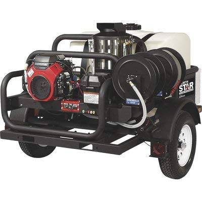 NorthStar Trailer-Mounted Portable Hot Water Commercial Pressure Power Washer