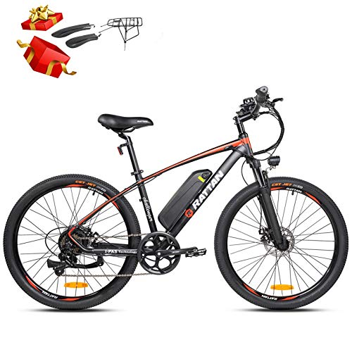 Rattan Challenger 26 Inch Electric Bicycle 48V 10.4AH Removable Lithium-ion Battery 350W Electric Bike for Adults E-Bike with Smart I-PAS Power System E-Bike 7 Speed Shifts