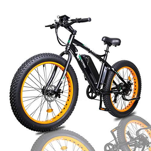 "ECOTRIC Electric Powerful Bicycle 26""Fat Tire Bike 500W 36V/12AH Battery E-Bike Moped Snow Beach Mountain E-bike Throttle & Pedal Assist"
