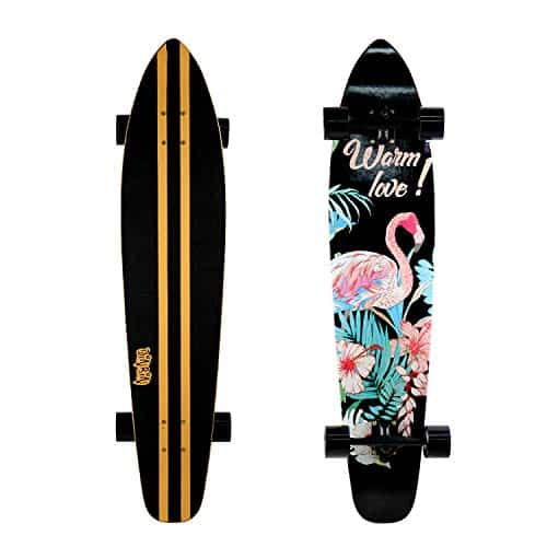 DINBIN 42 Inch Drop Through 8 Ply Maple Complete Longboards